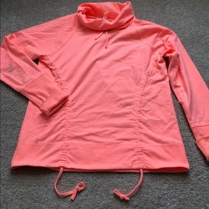 Lucy Lean and Mean Pullover Coral
